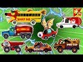 Scary Street Vehicles For Kids l Good Vs Evil Cartoon Video l Rock Truck Police Car School Bus