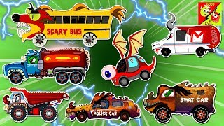 learn Street Vehicles For Kids l Good and bad Cartoon Video l Rock Truck Police Car School Bus