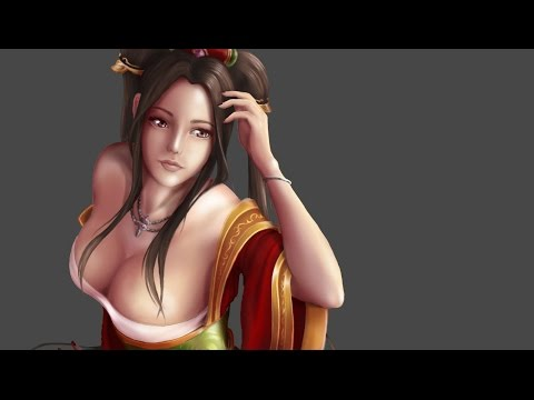 Speed painting - Guqin Sona (League of Legends)