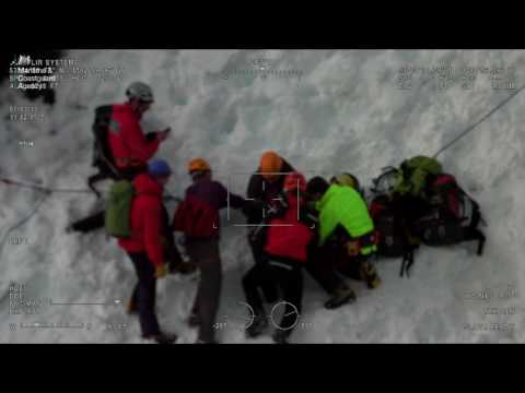 Dramatic rescue of injured climber on perilously steep Crib Goch Snowdonia