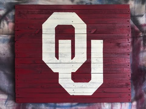 Oklahoma University Logo - pallet wood DIY
