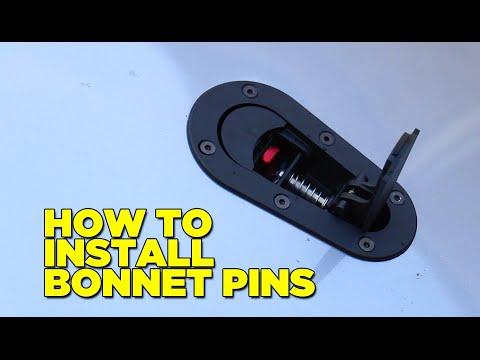 Honda S2000 Build Part 2 - How To Install Bonnet Pins (Hood Pins/Latches)
