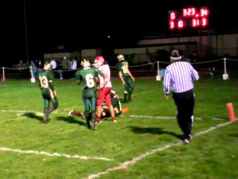 Upper Lake High School- Luke Mai at Willits High School 10-22-2010- Almost first TD