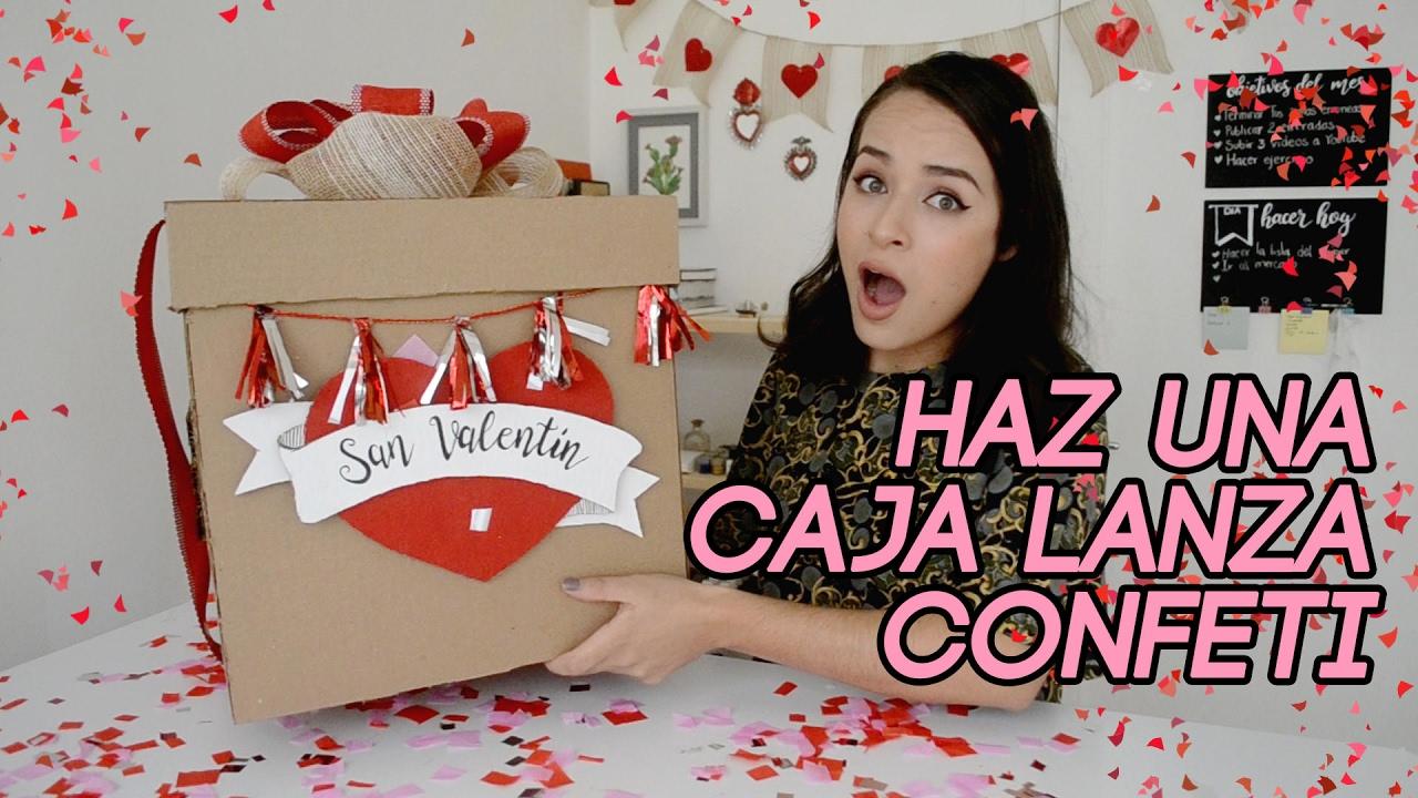 Como hacer una caja explosiva de confeti wendiy youtube for Como hacer confeti