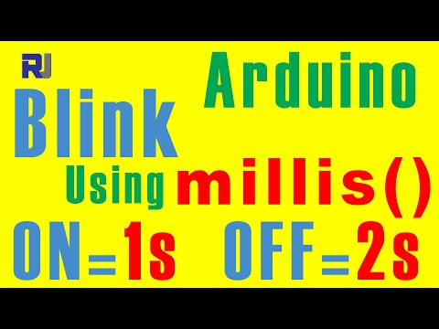 Arduino LED Blink Using Millis With Different ON And OFF Time - Robojax