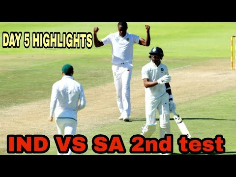 India vs South Africa 2nd test day 5 highlights||az Cricket||cricket news