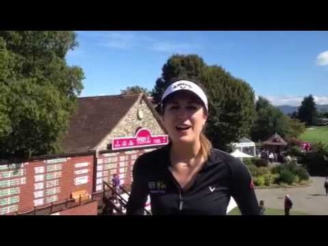 Sympathische Outtakes von Sandra Gal bei Evian Championship