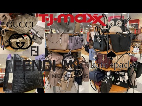 efe86e5579dc TJ Maxx Luxury Handbags Designer Purse Gucci Givenchy Michael Kors Kate  Spade | Shop With Me 2019