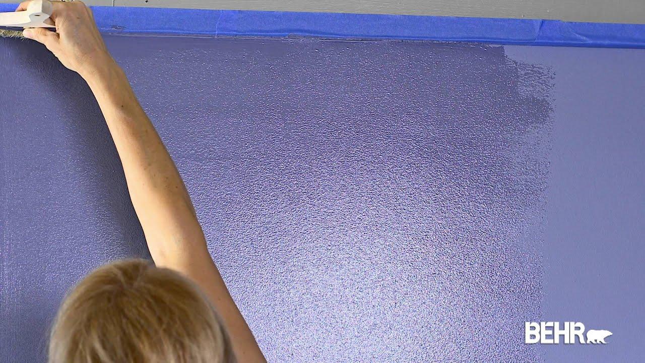 peinture behr: comment faire le faux-glacis, la technique d'aspect ... - Technique De Peinture Murale A L Eponge