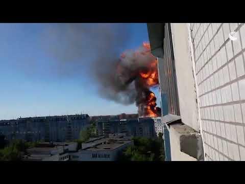 Взрыв на заправке в Новосибирске