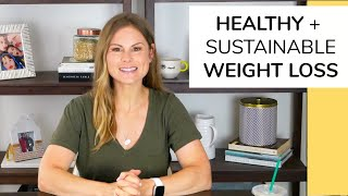 6 NATURAL WEIGHT LOSS TIPS healthy sustainable
