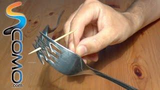 Cómo hacer equilibrio con palillos y tenedores