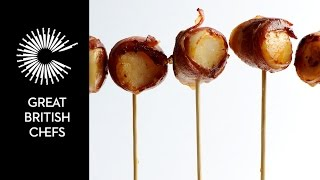 How to cook scallops wrapped in bacon with Josh Eggleton