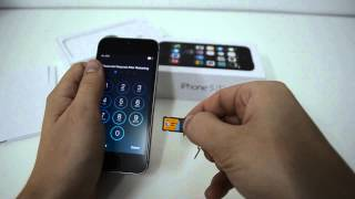 Как вставить симку в iPhone 5S | How to Insert a SIM Card into iPhone 5S