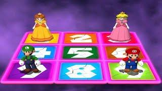 Mario Party 4 MiniGames - Mario Vs Luigi Vs Peach Vs Daisy (Master CPU)