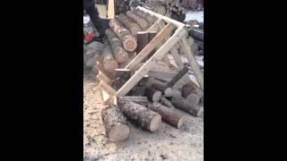 Firewood Cutting Rack