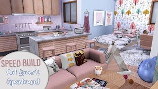 The Sims 4 Speed Build | CAT LOVER'S APARTMENT + CC LINKS