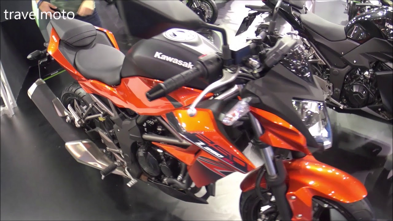 The 2018 Kawasaki Z 250 SL naked motorcycle - YouTube