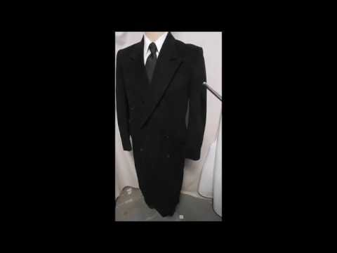 "D23 DAVIS23 42L ARMANI DB OVERCOAT 25.5"" ARMS TOP OUTER WINTER BLACK"