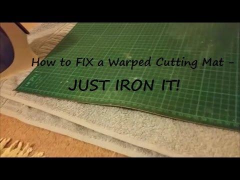 How to Fix a Warped Cutting Mat - YouTube : cutting mat for quilting - Adamdwight.com