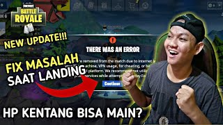 how to TROUBLESHOOT when LANDING STRAIGHT into the LOBBY!!! -Mobile INDONESIA Fortnite