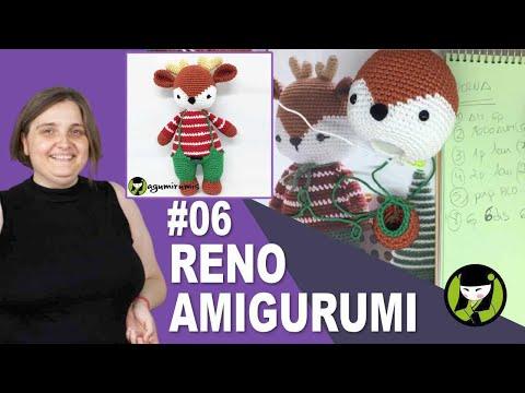 RENO NAVIDEÑO AMIGURUMI 06 cosas para navidad a crochet