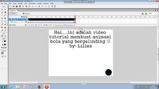 Flash 8 Bola bergelinding tutorial MUDAH!!