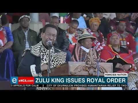 King Zwelithini gee bevel teen geslagsgebaseerde geweld uit - eNCA