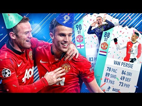 THE BEST UNITED STRIKER?! FUT BIRTHDAY ROONEY VAN PERSIE SQUAD! FIFA 18 ULTIMATE TEAM