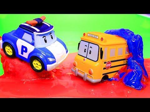 Робокар Поли – новые серии. Автобус Скулби: Выходной. Мультик с игрушками про машинки. Эмбер и Рой