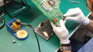Sustitución conector de corriente DC Jack en portátil Asus A53S