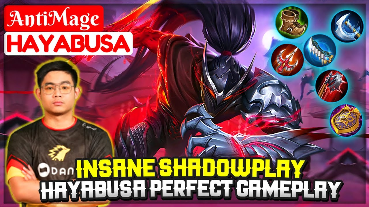 Insane Shadowplay Hayabusa Perfect Gameplay [ Ic AntiMage Hayabusa ] Mobile Legends