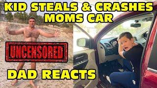 Kid Crashes Mom's Car In House, Dad Sh0wering! बच्चा दुर्घटनाग्रस्त कार bachcha durghatna grast kar