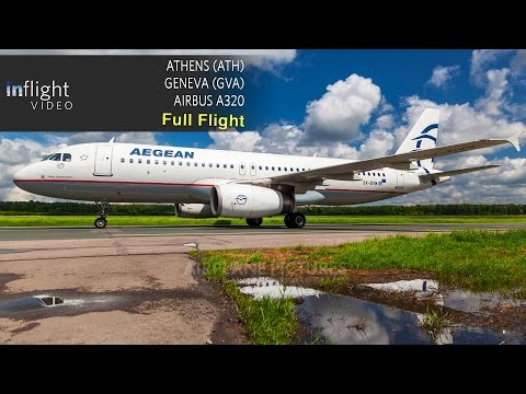Aegean Airlines Full Flight | Athens to Geneva | Airbus A320 (with ATC)