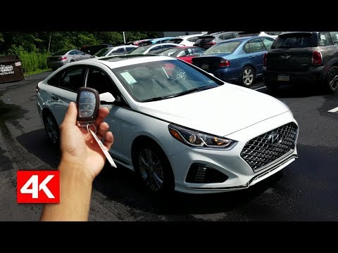 2018 HYUNDAI SONATA SPORT 2.0T IN DEPTH WALKAROUND STARTUP EXTERIOR INTERIOR TECH