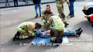 Reanimatie demo, open dag kazerne Ridderkerk.