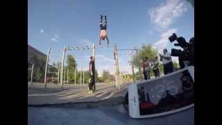 Most consecutive gymnastic  high bar rotations in one minute Guinness World records