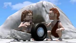 45 Прикольные мультфильмы, очень смешной мультик про каменный век1