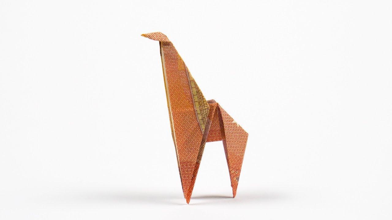 geld falten giraffe origami tiere als hochzeitsgeschenk aus geld basteln youtube. Black Bedroom Furniture Sets. Home Design Ideas