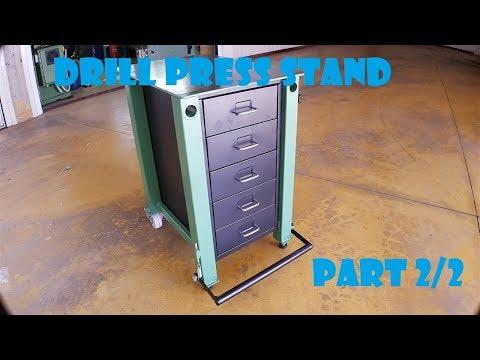 Banco per trapano a colonna con cassetti - (DIY Drill Press Stand Ikea Hack) PART2/2