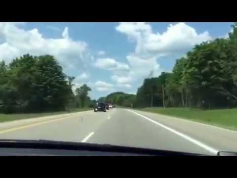 Sean driving to upper peninsula in Michigan