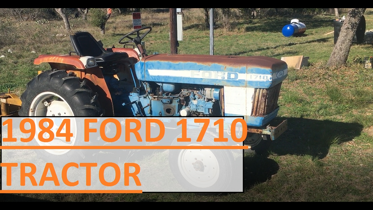 86 Ford 1710 Tractor Alternator Wiring Diagram Real Youtube I Bought A 1984 Rh Com Old Ignition Switch