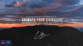 How to ANIMATE YOUR SIGNATURE in Adobe After Effects.