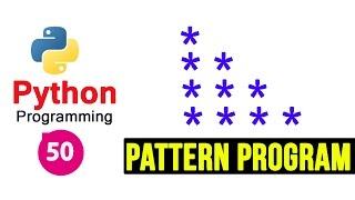 Python Pattern Programs - Printing Stars