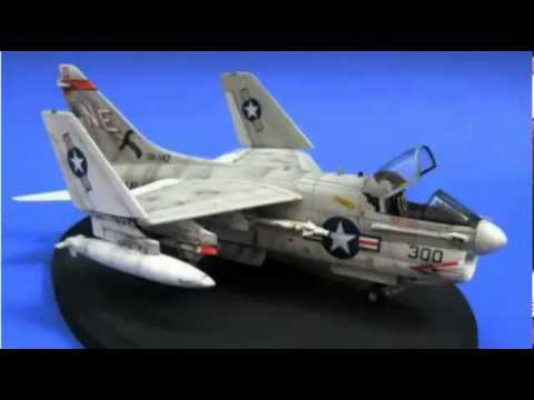 A-7A Corsair II 1/72 Fujimi built scale model - YouTube