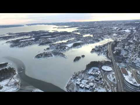 Sandvika drone video, Beautiful Norway cold winter, Dji phantom 3 advanced.cold