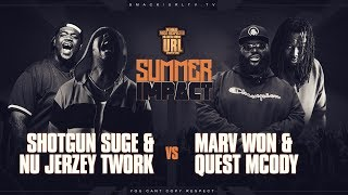 NU JERZEY TWORK X SHOTGUN SUGE VS MARV WON X QUEST MCODY RAP BATTLE | URLTV