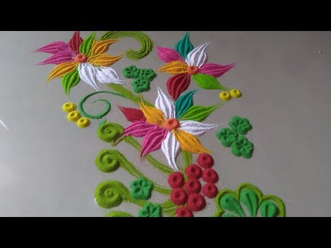 easy latest new style rangoli for everyday by Bucketful Creation thumbnail