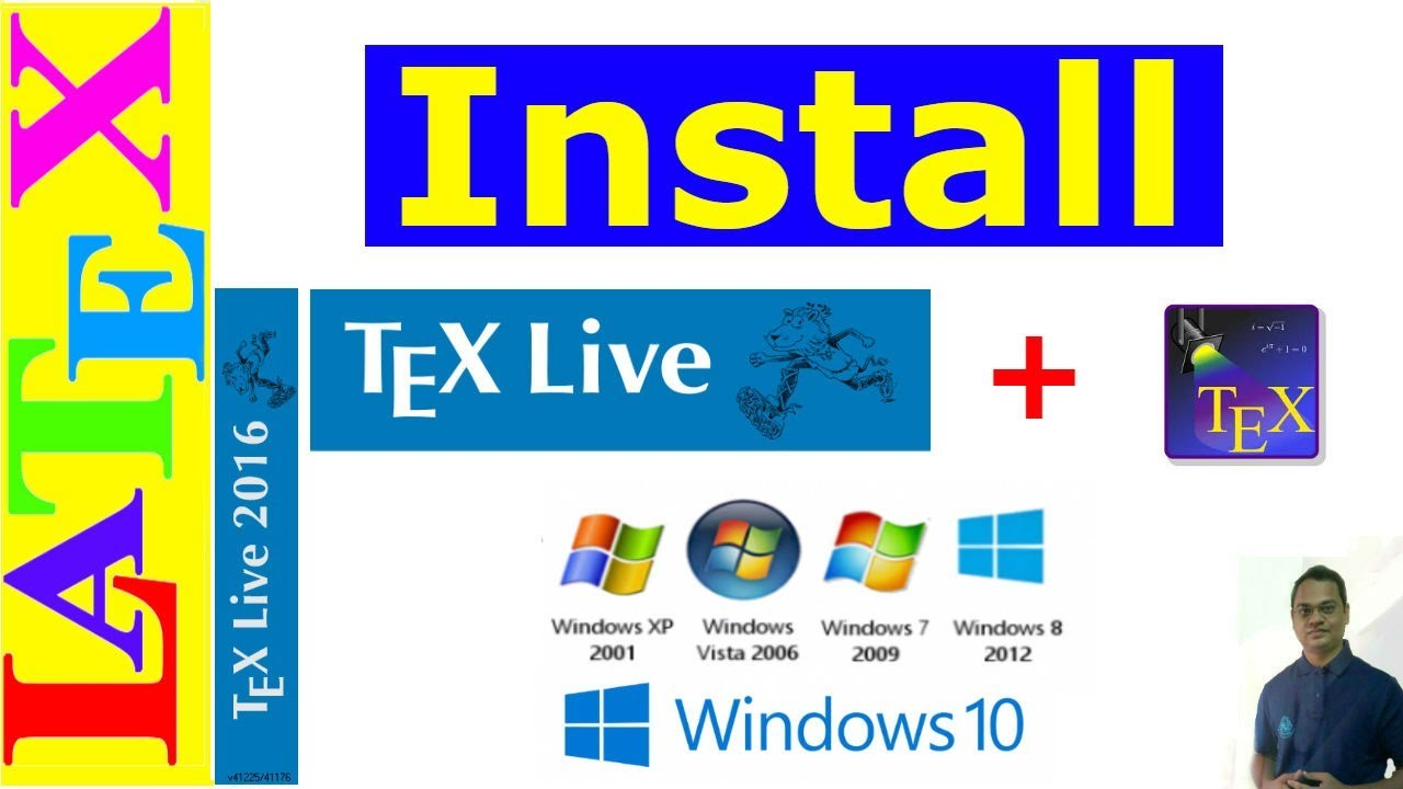 How to Install TeX Live and TeXstudio in Windows (LaTeX Advanced  Tutorial-10)