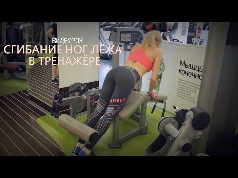 ФИТНЕС. Видеоурок Сгибание ног лёжа в тренажёре.